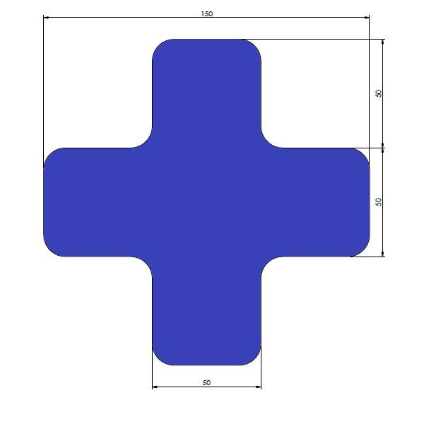 supreme v afgeronde xs blauw 15cm x 15cm x 5cm aantalset30st
