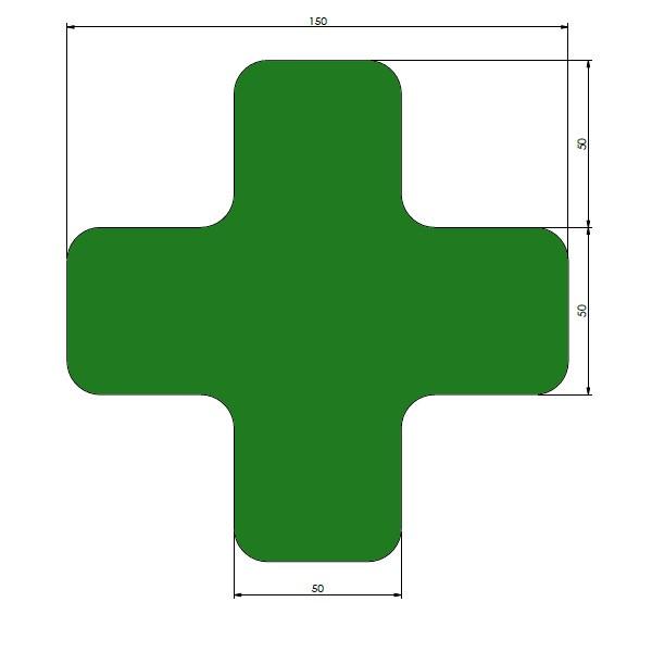 supreme v afgeronde xs groen 15cm x 15cm x 5cm aantalset30st