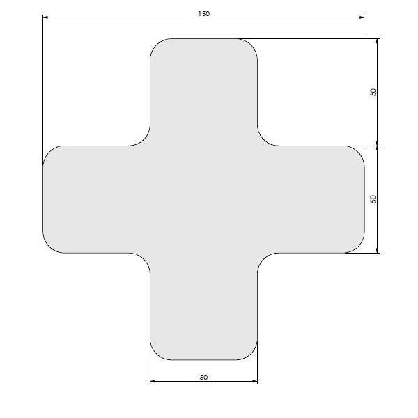 supreme v afgeronde xs wit 15cm x 15cm x 5cm aantalset30st