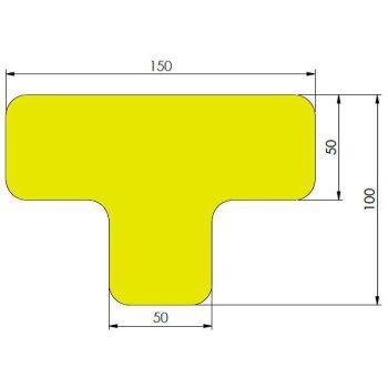 xtreme afgeronde ts geel 10cm x 15cm x 5cm aantalset40st
