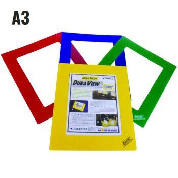 A3, geel, venstergrootte 29,7 x 42cm, frame breedte 5cm