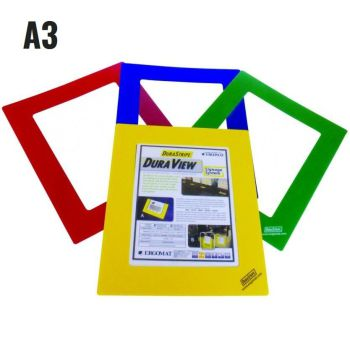A3 / BLAUW / VENSTERGROOTTE 29,7 X 42CM / FRAME BREEDTE 5CM