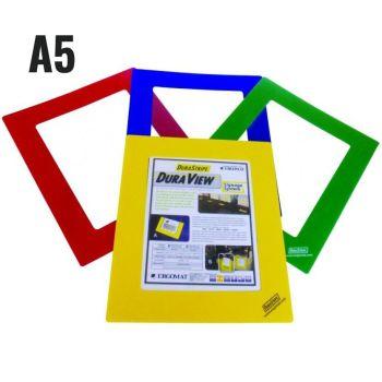 A5, geel, venstergrootte 14,8 x 21cm, frame breedte 5cm