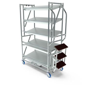 Orderpickkar easy, 1000, 5 etage's, trap