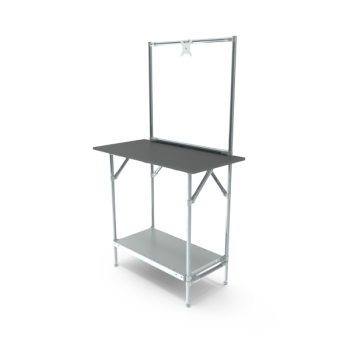 Werktafel met lage achterwand, 914x500mm