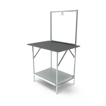 Werktafel met lage achterwand, 914x700mm