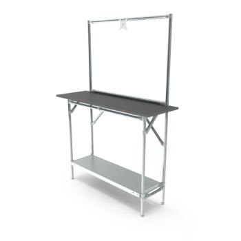 Werktafel met lage achterwand, 1164x400mm