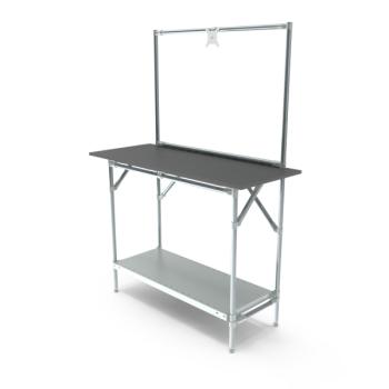 Werktafel met lage achterwand, 1164x500mm
