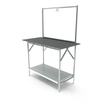 Werktafel met lage achterwand, 1164x600mm