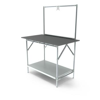 Werktafel met lage achterwand, 1164x700mm