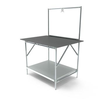 Werktafel met lage achterwand, 1164x900mm