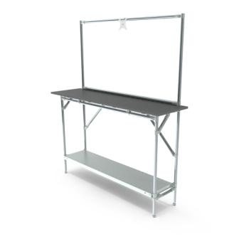 Werktafel met lage achterwand, 1464x400mm