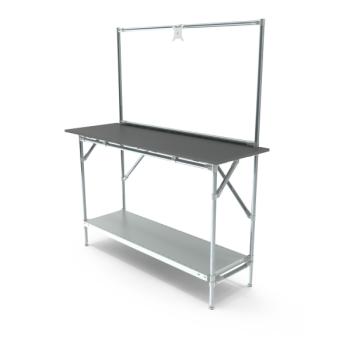 Werktafel met lage achterwand, 1464x500mm