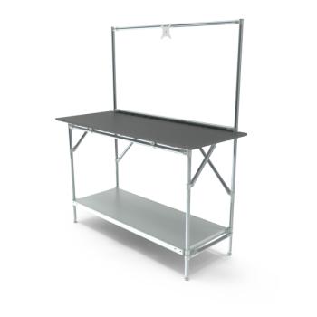Werktafel met lage achterwand, 1464x600mm