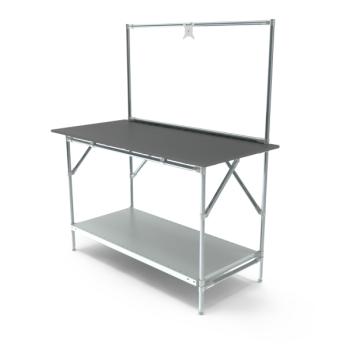 Werktafel met lage achterwand, 1464x700mm