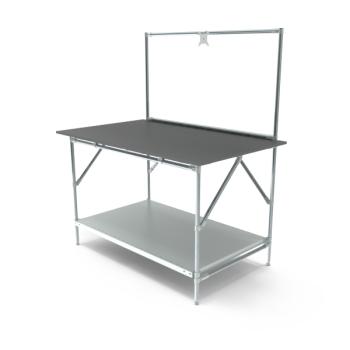 Werktafel met lage achterwand, 1464x900mm