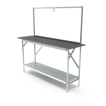 Werktafel met lage achterwand, 1664x500mm