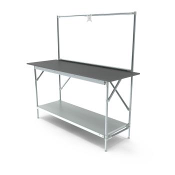Werktafel met lage achterwand,, 1664x600mm
