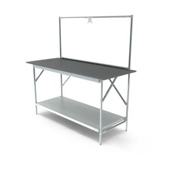 Werktafel met lage achterwand, 1664x700mm