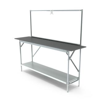 Werktafel met lage achterwand, 1864x500mm
