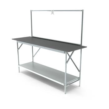 Werktafel met lage achterwand, 1664x600mm