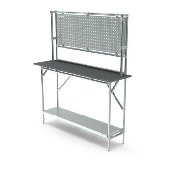 Werktafel met achterwand, 1464x400mm