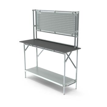 Werktafel met achterwand, 1464x500mm