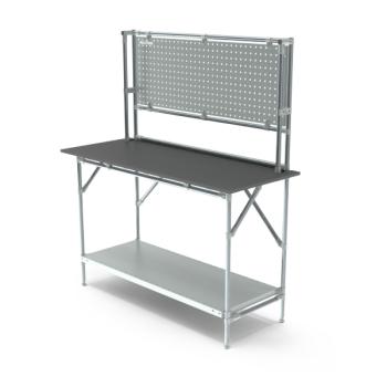 Werktafel met achterwand, 1464x600mm