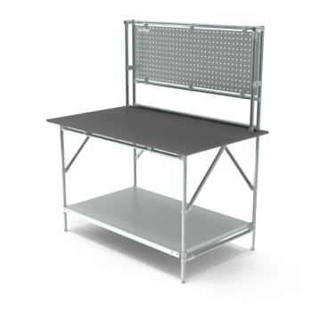 Werktafel met achterwand, 1464x900mm