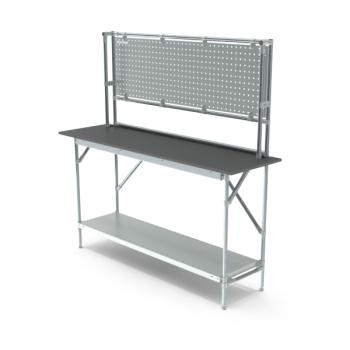Werktafel met achterwand, 1664x500mm