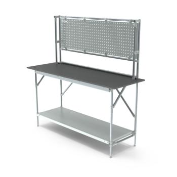 Werktafel met achterwand, 1664x600mm