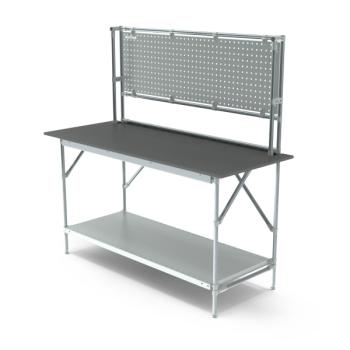 Werktafel met achterwand, 1664x700mm