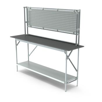 Werktafel met achterwand, 1864x500mm