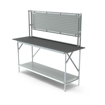 Werktafel met achterwand, 1864x600mm