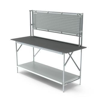 Werktafel met achterwand, 1864x700mm