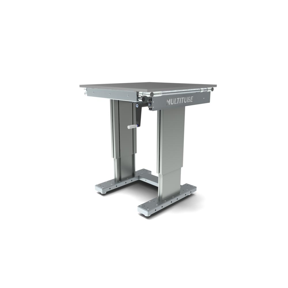 werktafel in hoogte verstelbaar manueel 750x800mm