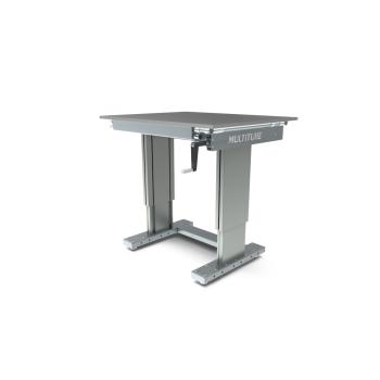 Werktafel in hoogte verstelbaar, manueel, 1000x800mm
