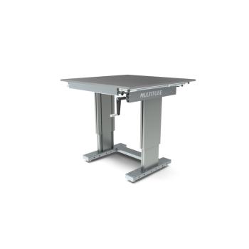 Werktafel in hoogte verstelbaar, manueel, 1000x1000mm