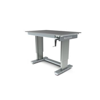 Werktafel in hoogte verstelbaar, manueel, 1250x800mm