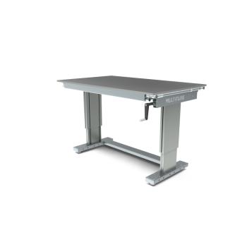 Werktafel in hoogte verstelbaar, manueel, 1500x900mm