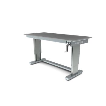 Werktafel in hoogte verstelbaar, manueel, 1750x800mm