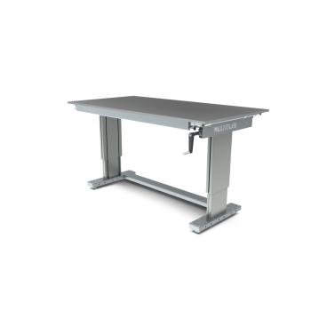 Werktafel in hoogte verstelbaar, manueel, 1750x900mm