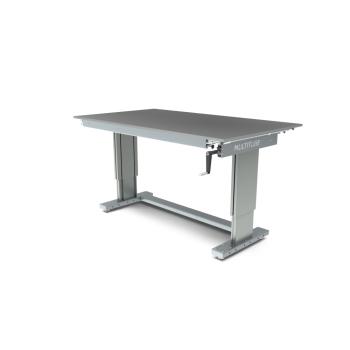Werktafel in hoogte verstelbaar, manueel, 1750x1000mm