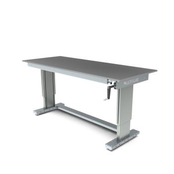 Werktafel in hoogte verstelbaar, manueel, 2000x800mm