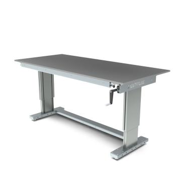 Werktafel in hoogte verstelbaar, manueel, 2000x900mm
