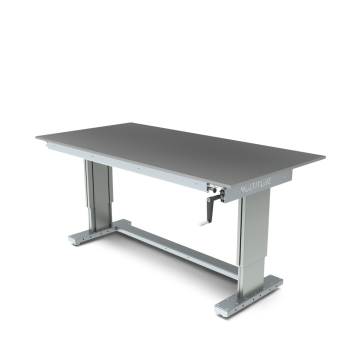 Werktafel in hoogte verstelbaar, manueel, 2000x1000mm