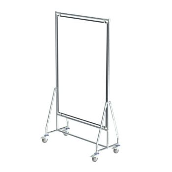Verrijdbaar whiteboard, 100x150 cm