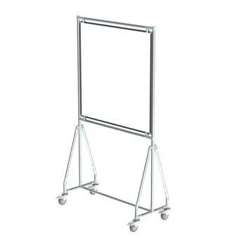 Verrijdbaar whiteboard, 100x100 cm