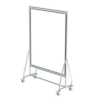 Verrijdbaar whiteboard, 120x150 cm