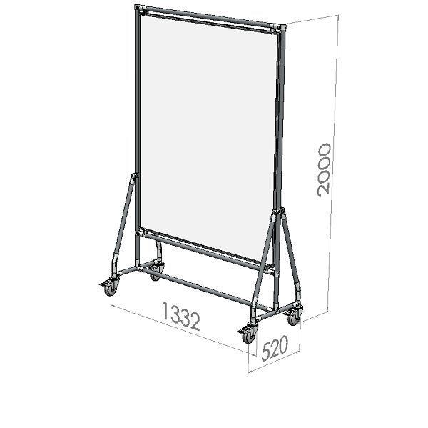 verrijdbaar whiteboard 120x150 cm